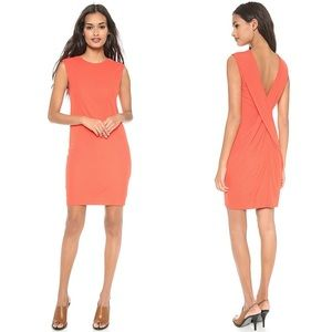 t by alexander wang orange drape cross back dress